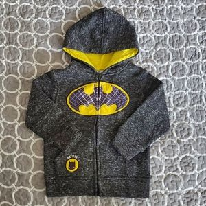 Batman Zippered Hooded Sweater Size 3